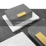 Modern minimalist light luxury creative desktop decoration cloth storage box gray living room home soft decoration model room