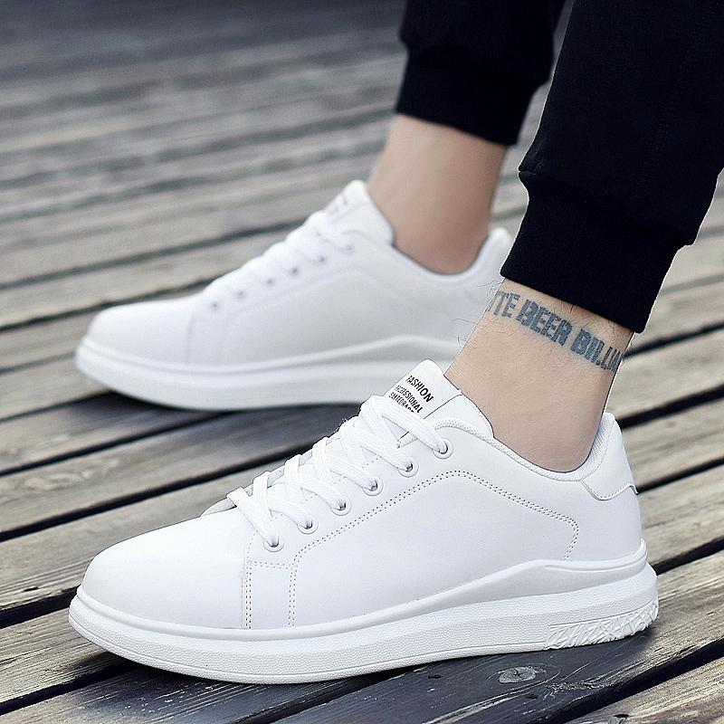 37码白色男板鞋