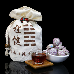 沱茶熟普洱熟克送布袋茶500茶迷你
