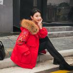 彩色女棉衣