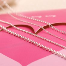 S925 Silver Chain Hand Chain Insensitive Bare Chain Diy Made of Bracelet Material Earring Necklace Accessories