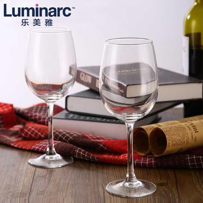 乐美雅无铅玻璃冷切口红酒杯葡萄酒杯高脚酒杯套装4只家用红酒杯