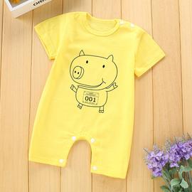 婴儿服装婴儿短袖婴儿连体哈衣夏款婴幼儿宝宝衣服夏天爬服婴儿服图片