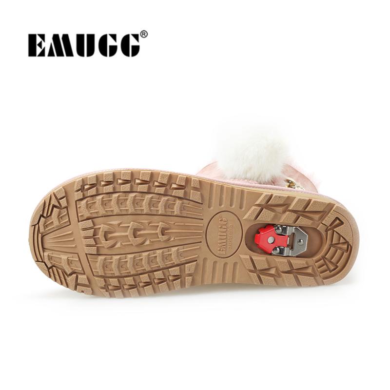 emugg雪地靴女冬季澳洲皮毛一体短筒棉鞋2018新款EМUGG防滑防水