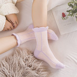 Moon socks autumn and winter maternity socks coral fleece no fluorescent agent loose mouth pregnant women socks wide mouth socks three pairs