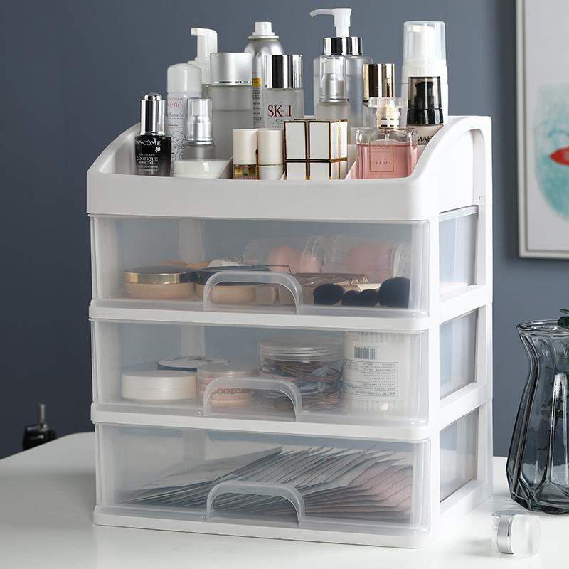 化妆品收纳盒桌面口红面膜整理架抖音同款家用宿舍大容量置物架子