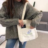 帆布袋 帆布包包女单肩斜挎包ins百搭休闲大容量书包女大学生韩版
