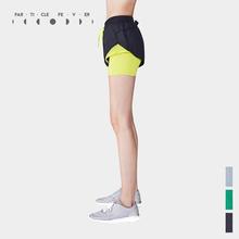 Particle Fever(粒子狂热)PF女士速干网眼拼接组合运动短裤健身裤