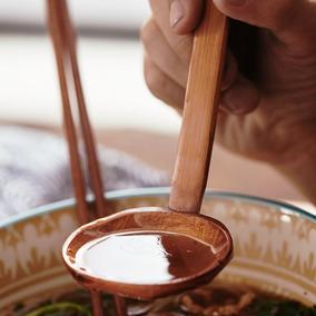 玩物志  原松木汤勺木勺子长柄粥勺不粘锅木汤勺专用家用厨房锅勺