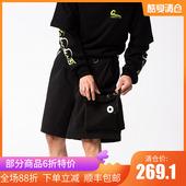 【GAON】GAONCREW 春夏 弹力3M反光宽松大口袋工装运动短裤五分裤