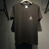 暗黑风 T恤 短袖 施华钻烫钻 MMJ潮牌 2018新款 胸口全钻小骷髅图片