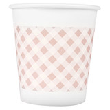 Deli paper cup 9569 thicker, safe, non-toxic, odorless disposable paper cup 180 ml high temperature resistant large size 50 pieces/bag