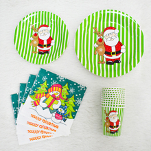 Merry Christmas decorations Christmas New Year decorations tableware set disposable paper plate
