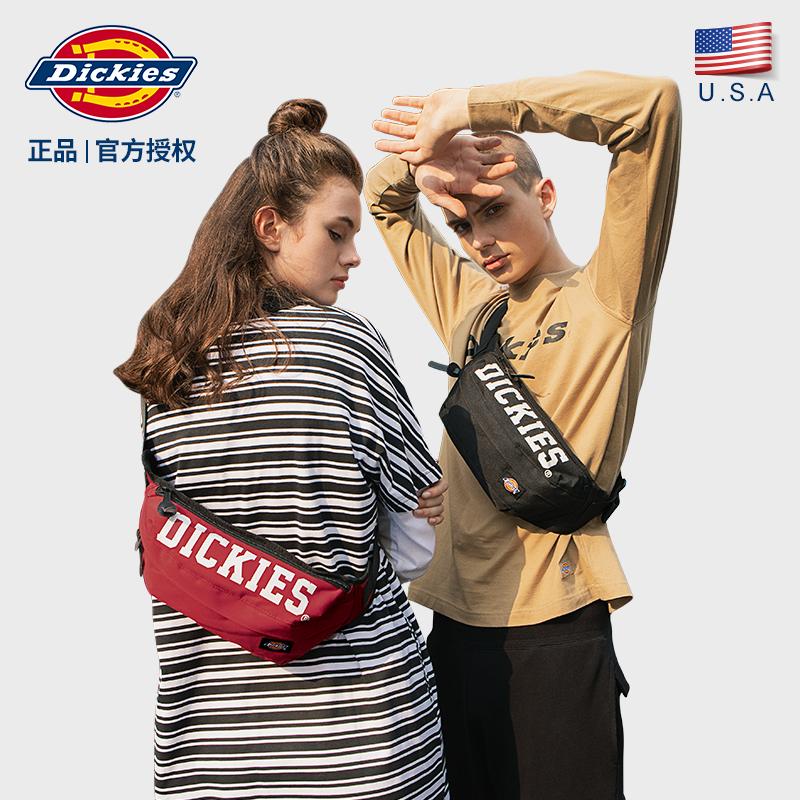 Dickies潮牌斜挎包男士腰包大学生潮流休闲女士胸包单肩包包C012