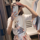 Breastfeeding Tops 2019 Summer New Trendy Mom Feeding T-Shirt Postpartum Fashion Outing Short Sleeve Breastfeeding Suit Hot Lady