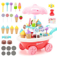 Children's play house ice cream car toy girl simulation small trolley candy car ice cream ice cream car set