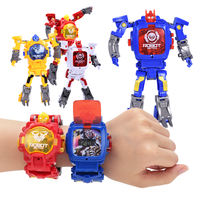 Children's deformation electronic watch King Kong toy student creative cartoon turned robot watch boy boy