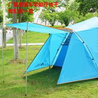 牧高笛户外大空间全自动家庭款公园野露营3-4人速开搭建双层帐篷