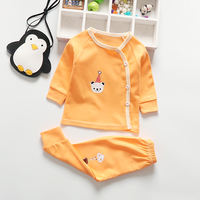 Baby underwear set autumn and winter baby autumn clothes newborn children pajamas 0 months 1 year old 3 newborn clothes cotton spring