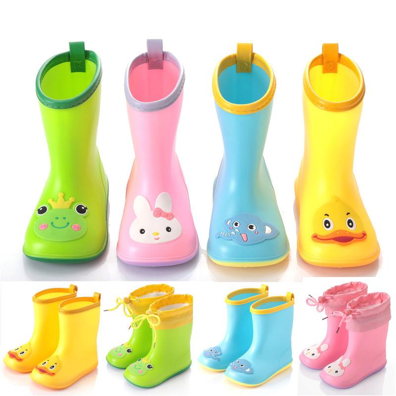 儿童雨鞋抖音小黄鸭雨靴幼儿卡通小孩防滑水鞋小童学生男女童雨鞋