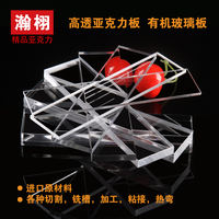 Acrylic plate custom plexiglass sheet transparent display box custom advertising processing cutting engraving slot