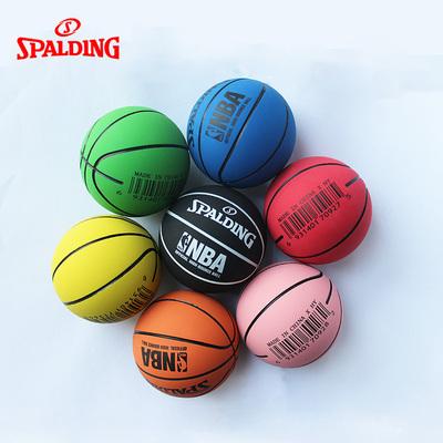 斯伯丁高弹力空心橡胶迷你篮球NBA LOGO系列儿童玩具礼品小皮球
