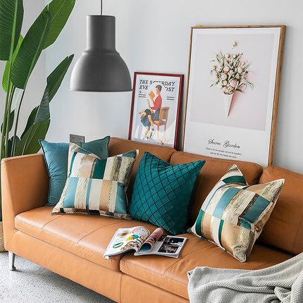 简约现代样板房设计师抱枕 抽象高精密床上腰靠 沙发办公室靠垫