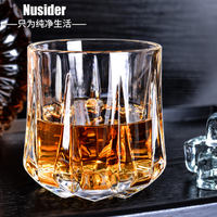 Thick whiskey glass home creative glass wine crystal crystal wine glass spirit glass beer mug set