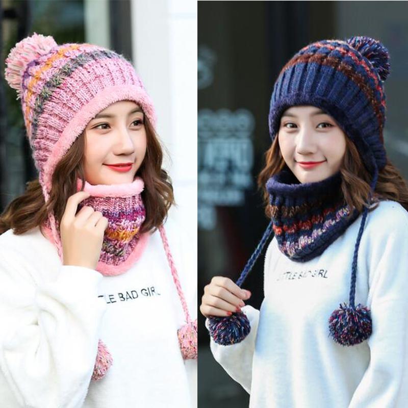韩国保暖护耳针织帽
