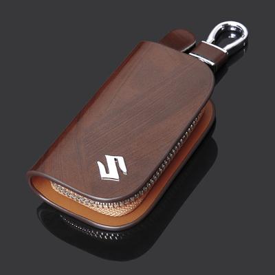 铃木雨燕钥匙包天语SX4利亚纳新奥拓吉姆尼羚羊真皮直板遥控套扣