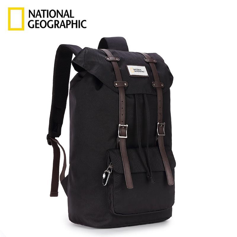国家地理夏ins潮双肩包情侣休闲书包运动包户外旅行背包学生防水