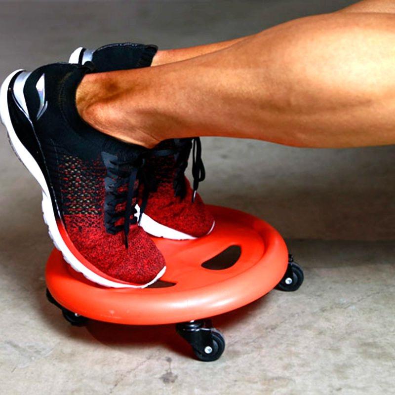 健身划盘段练腹肌的脚滑轮脚踩滑盘滑板垫静音万向轮器材男用专业