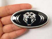起亚k5K4K3福瑞迪改装车标贴纸虎头标黑白蝙蝠标方向盘轮毂