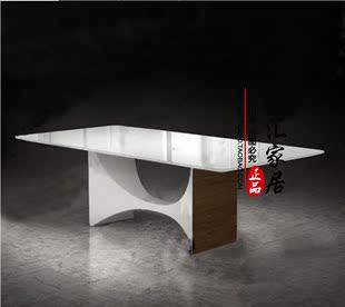 简约时尚创意电脑桌书桌台老板办公桌大师设计烤漆台式桌接待台