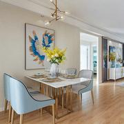 港式轻奢不锈钢大理石餐桌椅组合意式样板间家具北欧后现代餐桌椅
