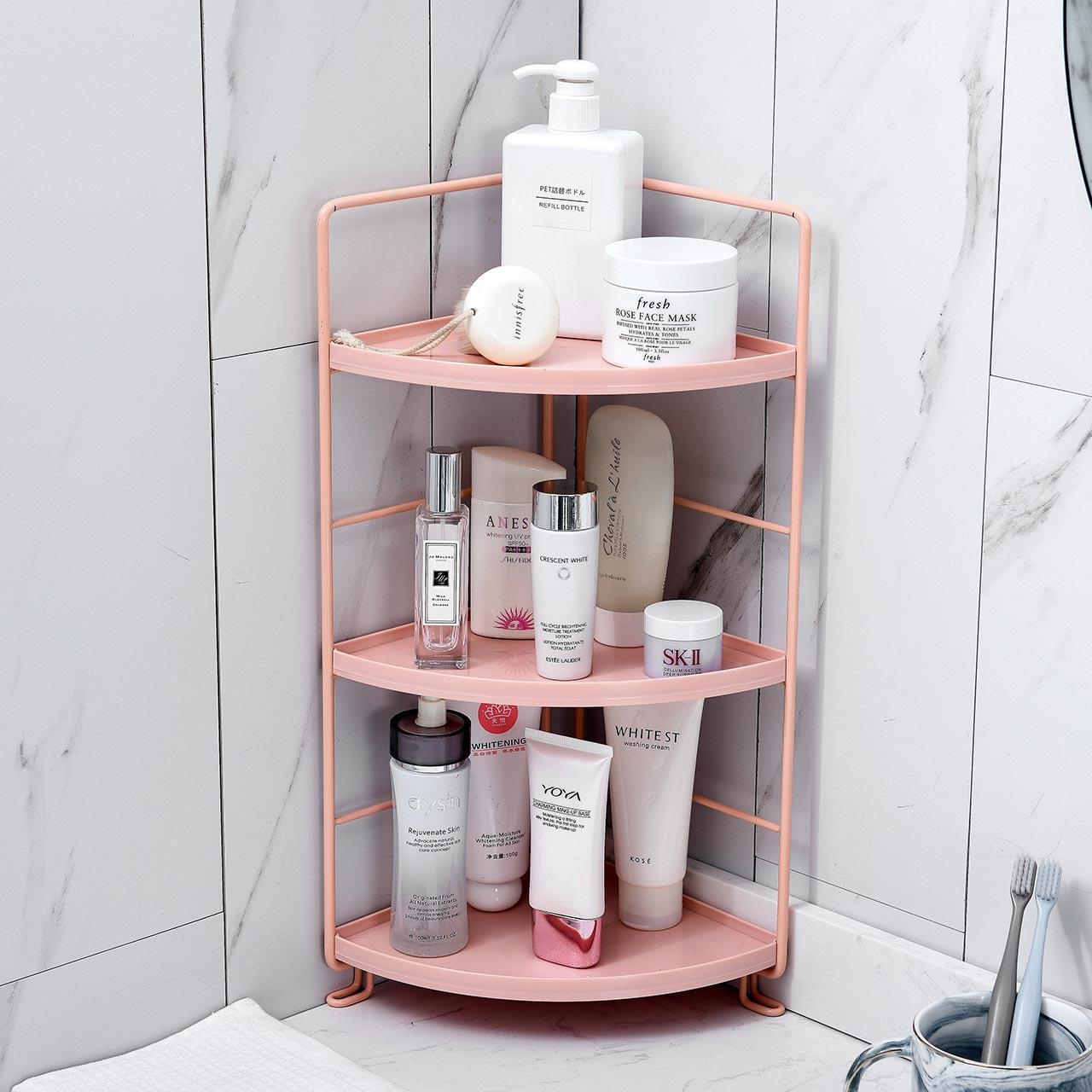 居家家浴室铁艺置物架落地洗漱台沐浴露架子卫生间厕所多层收纳架