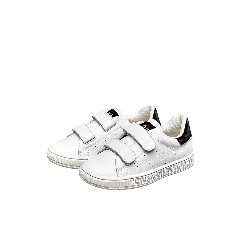 意尔康童鞋亲子鞋春秋韩版男童小白鞋休闲女童鞋儿童运动板鞋