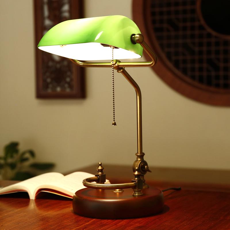 复古实木台灯