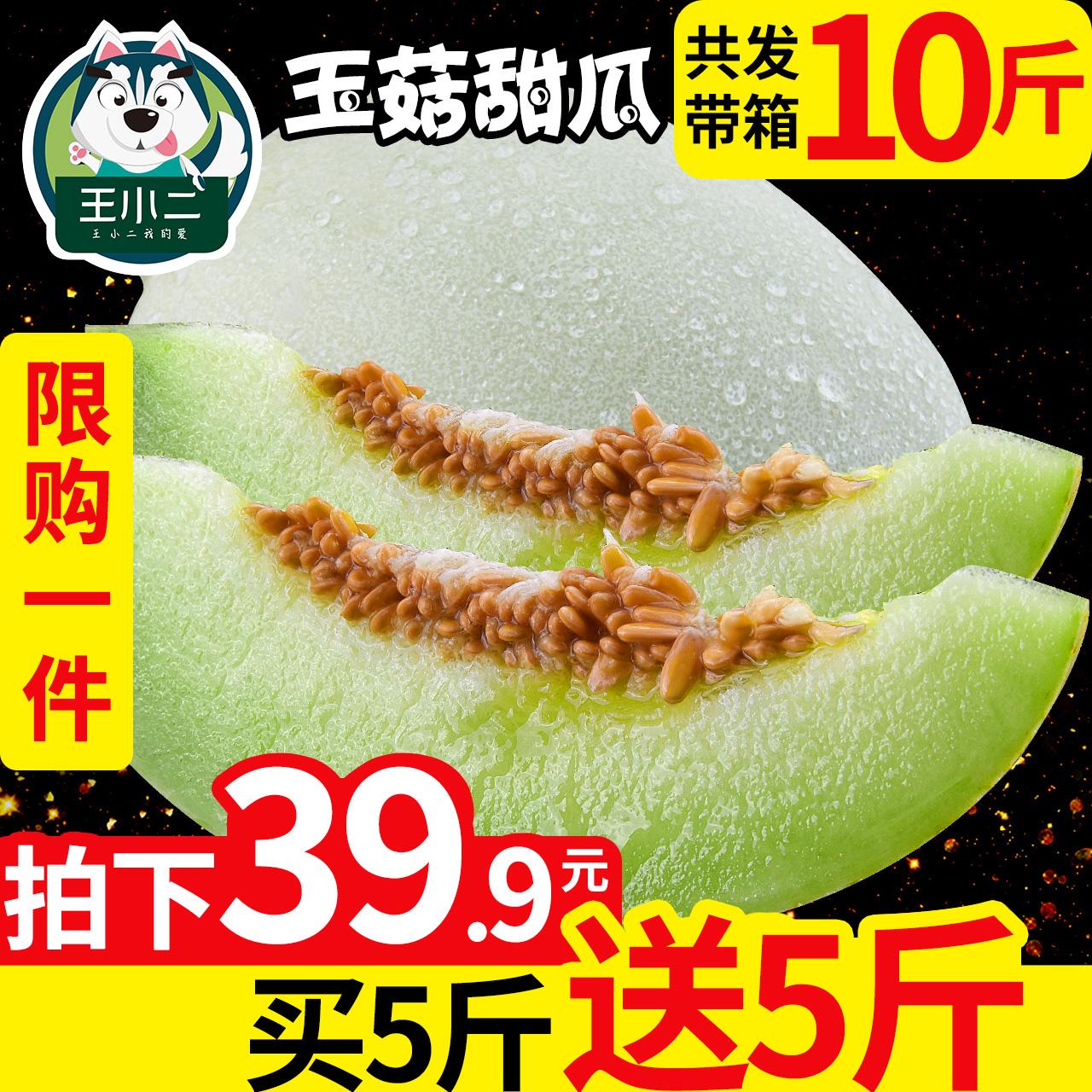 【买1送1】山东玉菇甜瓜香瓜新鲜水果包邮当季蜜瓜密瓜哈带箱10斤