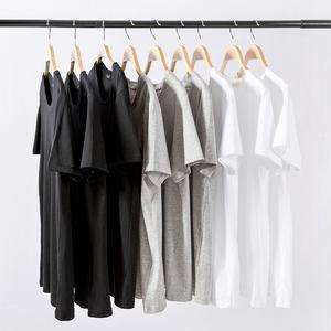 男士短袖t恤韩版纯棉修身圆领印花半袖夏季男装大码体恤潮流衣服