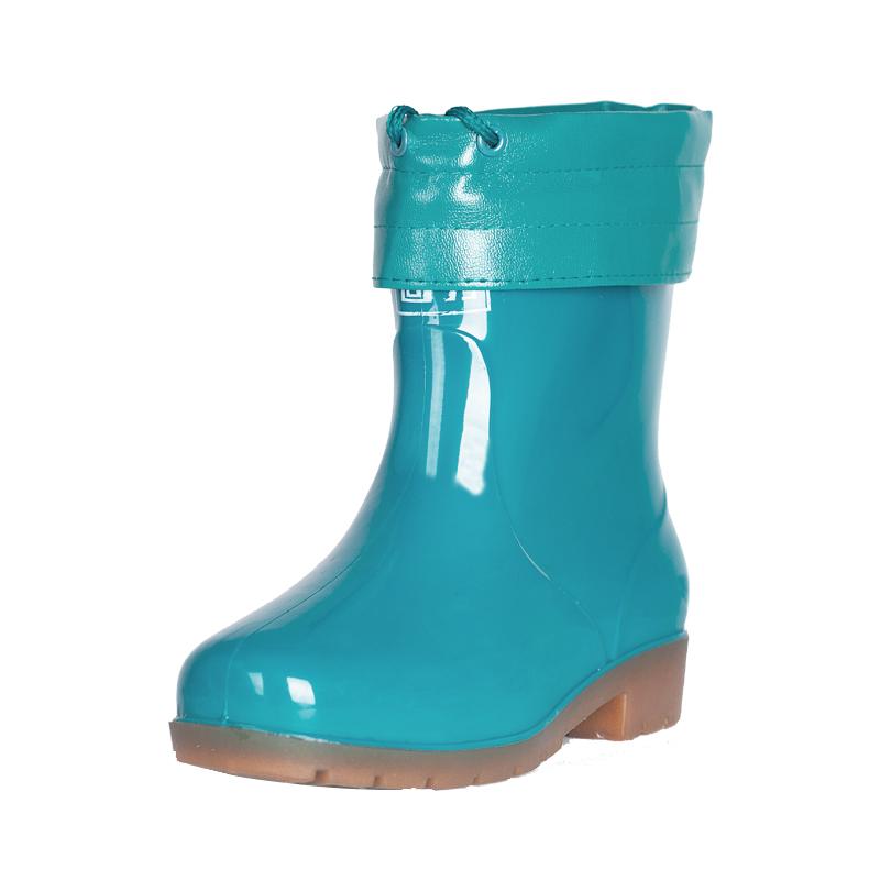 冬季加厚高筒雨靴男加棉回力雨鞋女短桶胶鞋防水鞋套中低筒绒套鞋