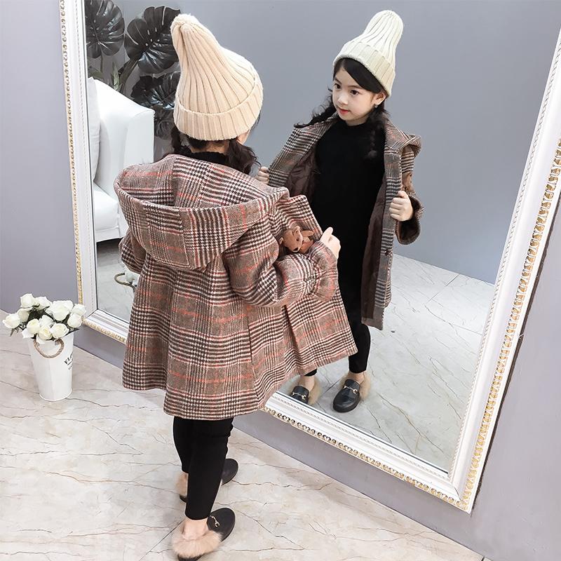 女童呢子外套加厚