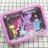 My Little Pony Cutlery Pony Polaroid Polaroid Lunch box SUS304 stainless steel plate separates lunch box