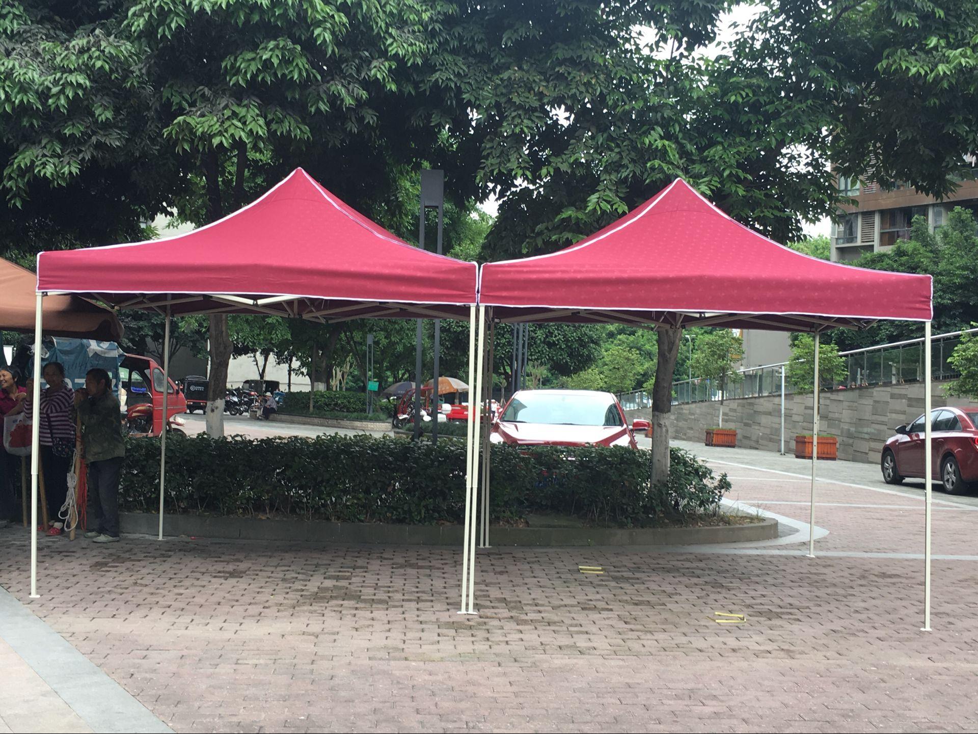 3米广告帐篷加粗骨架加厚过胶布面安开关质感强户外宣传雨棚伞