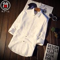 男士衬衫白色长袖