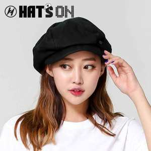 HATSON品牌SMITH BRIDGE男女黑色潮八角帽画家帽四季款新品