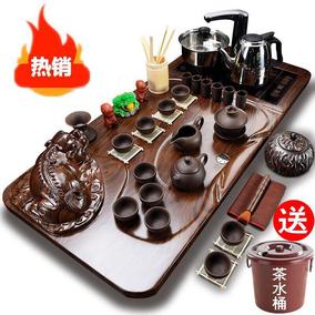 茶具套装家用功夫茶全自动实木茶台整套紫砂茶杯茶壶茶艺茶海茶道