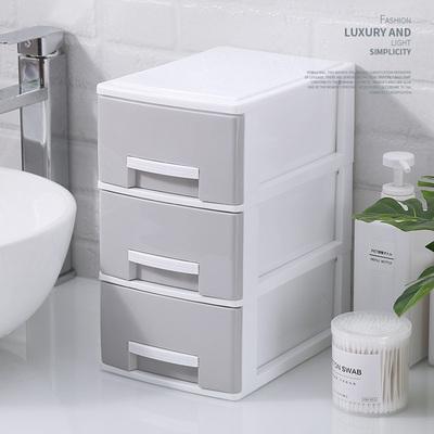 桌面收納盒簡約塑料小抽屜式文件柜辦公桌上文具雜物化妝品儲物箱網上專賣店
