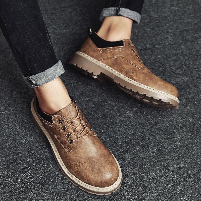保暖低帮皮鞋男