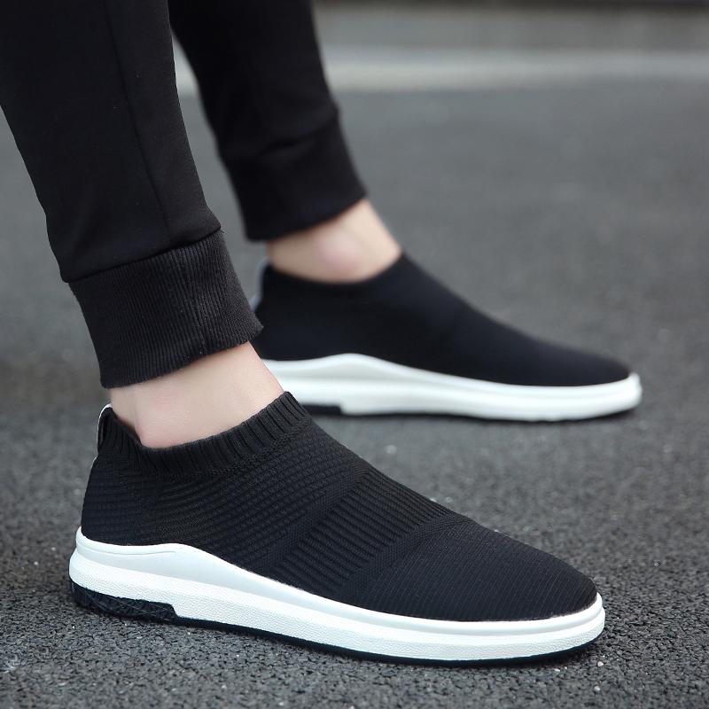 特大码45袜子鞋懒人男鞋子韩版加大号46男士运动休闲鞋弹力布潮鞋